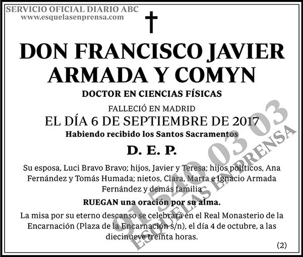 Francisco Javier Armada y Comyn